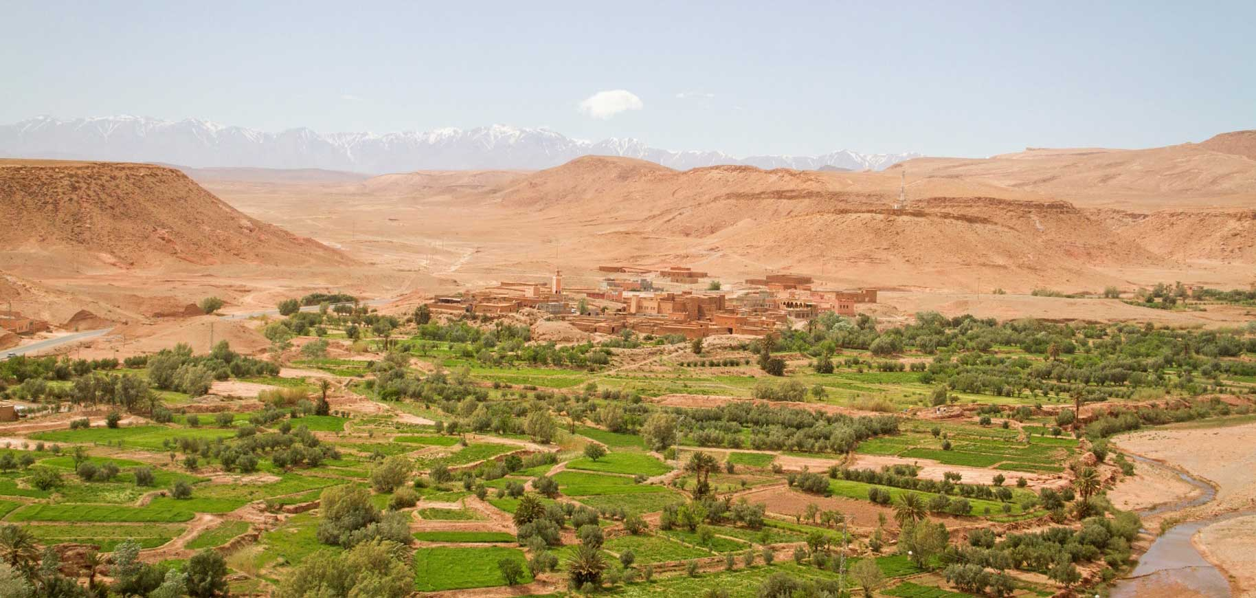 Valley in Atlas Mountains